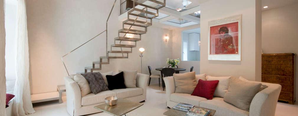 16 soggiorni con scale che sapranno sorprendervi e for Sala di piani quadrati a chiocciola