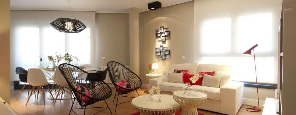 Projekty,  Salon zaprojektowane przez Sube Susaeta Interiorismo