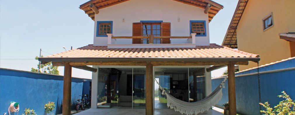 Casa Simples e Confortável: Terraços  por RAC ARQUITETURA