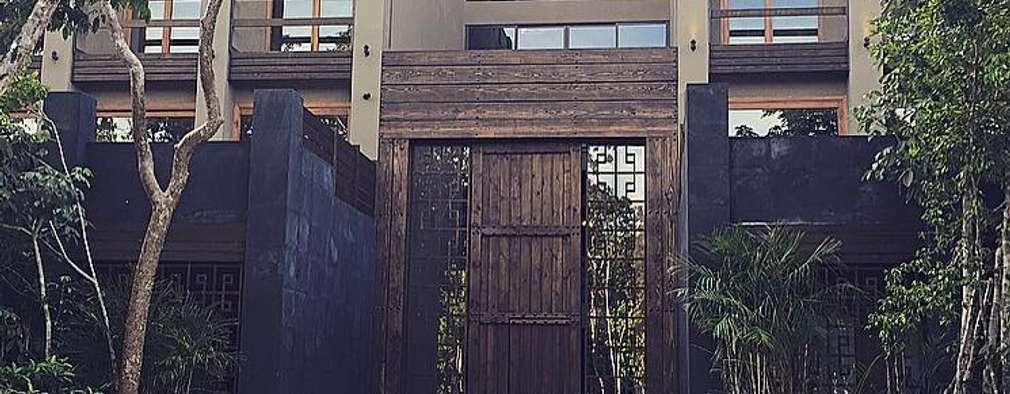 Main facade Tulum Project: Casas de estilo clásico por JCandel