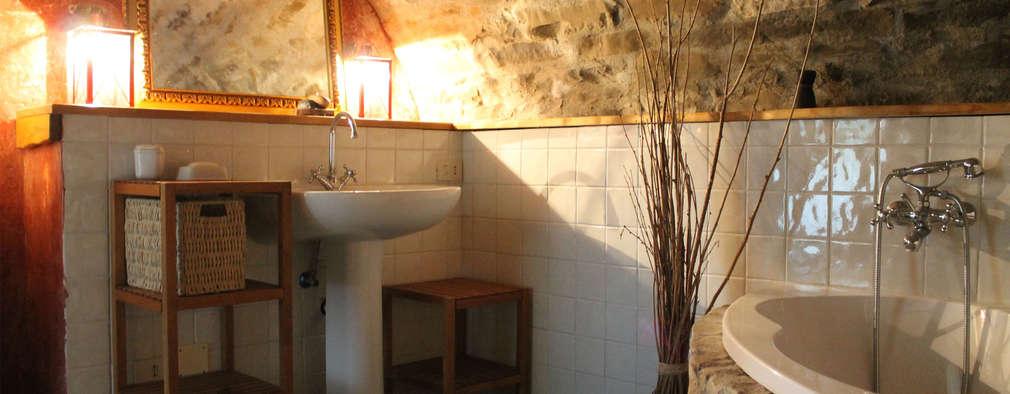 rustic Bathroom by Naro architettura restauro       'Dein Landhaus im Piemont'