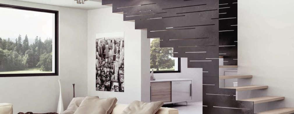 Projekty,  Salon zaprojektowane przez Class Iluminación