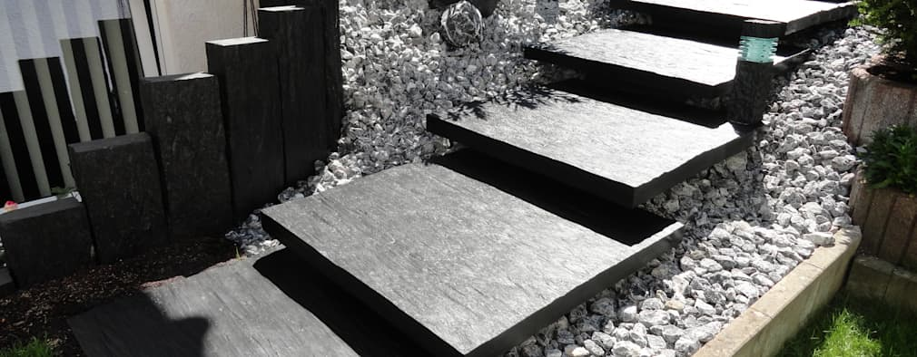 Jardines de estilo moderno por MM NATURSTEIN GMBH