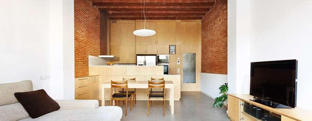 minimalistic Living room by Vallribera Arquitectes