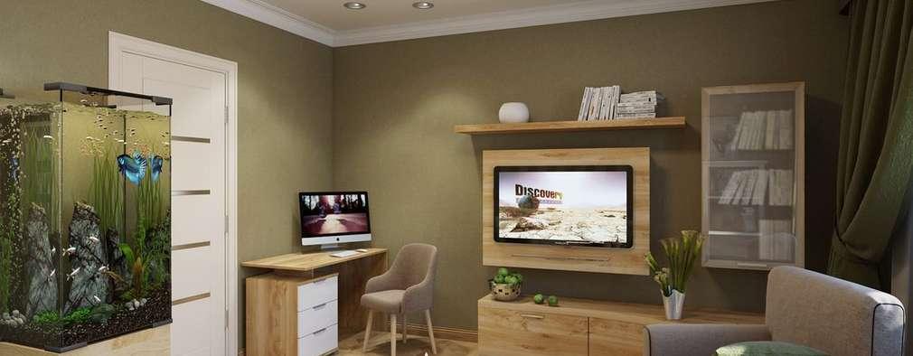 Projekty,  Salon zaprojektowane przez Дизайн студия Алёны Чекалиной