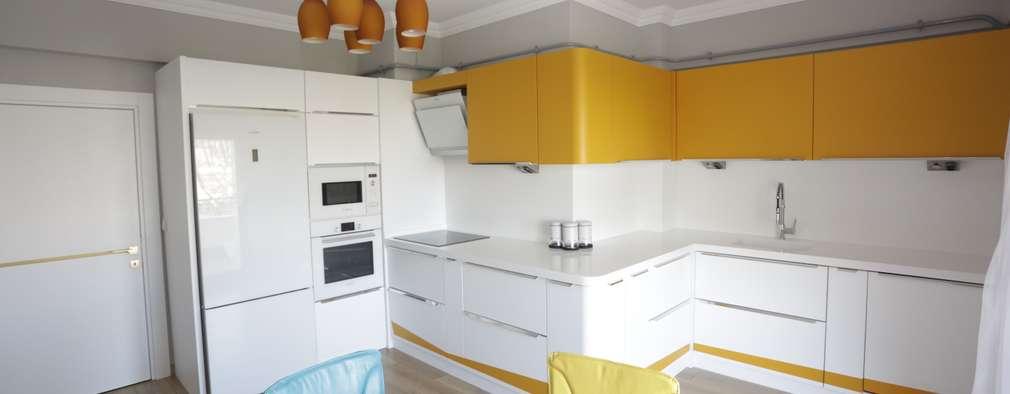 مطبخ تنفيذ Murat Aksel Architecture
