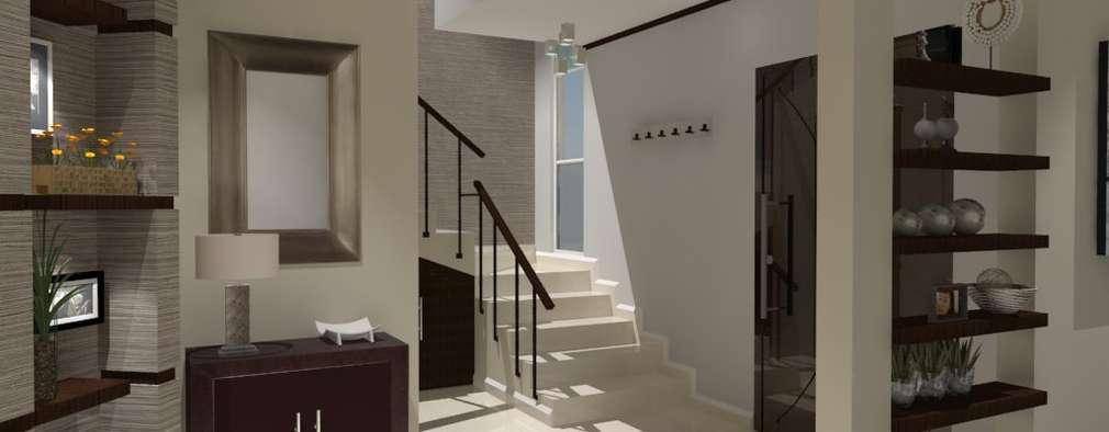Pasillos y vestíbulos de estilo  por AurEa 34 -Arquitectura tu Espacio-