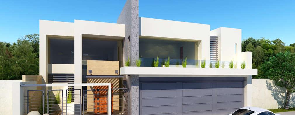 36 fachadas modernas de dos pisos que te inspirar n - Cuanto cuesta hacer una casa de dos plantas ...