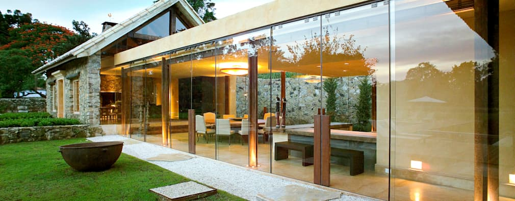 Projekty, wiejskie Domy zaprojektowane przez Mario Caetano e Eliane Pinheiro