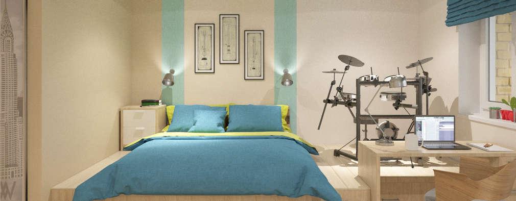 minimalistic Living room by Студия дизайна Виктории Силаевой