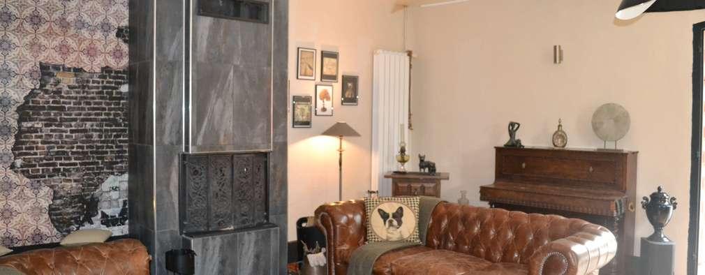 Salas / recibidores de estilo ecléctico por KREA Koncept