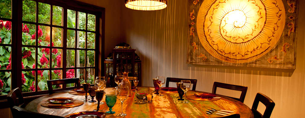 Jaqueline Vale Arquitetura: rustik tarz tarz Yemek Odası