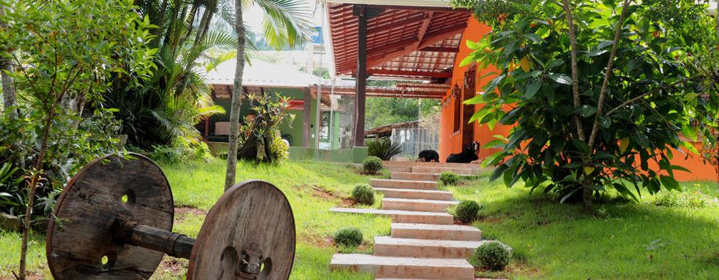 Casas de estilo rústico por Jaqueline Vale Arquitetura