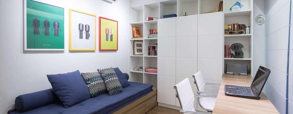 moderne Studeerkamer/kantoor door Joana França