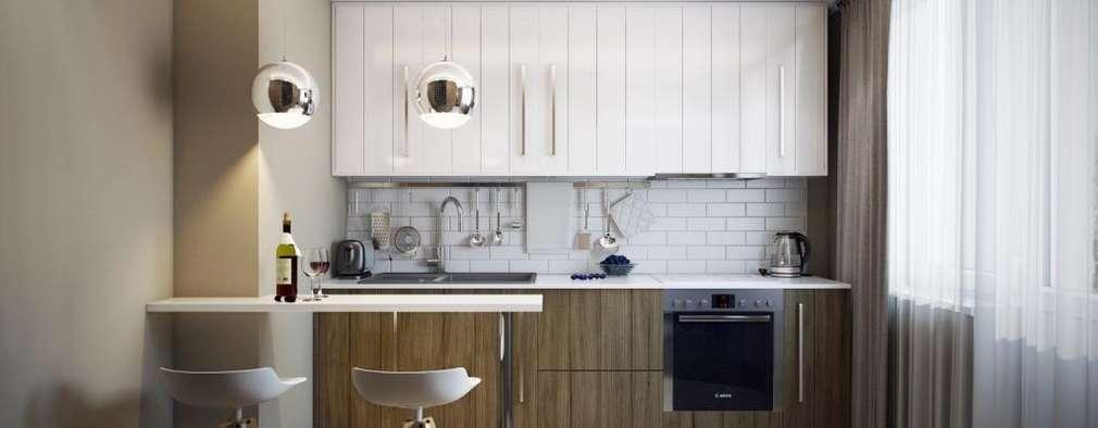 مطبخ تنفيذ Дизайн студия Алёны Чекалиной