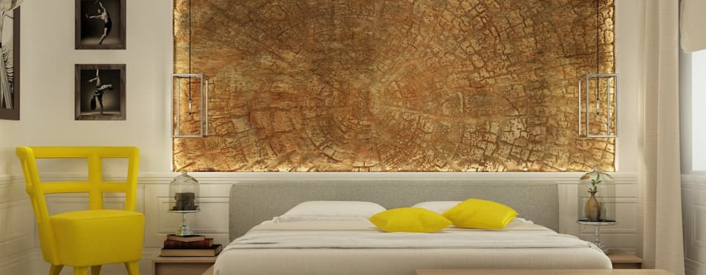 eclectic Bedroom by The Аrt of interior from Olga Kalinina