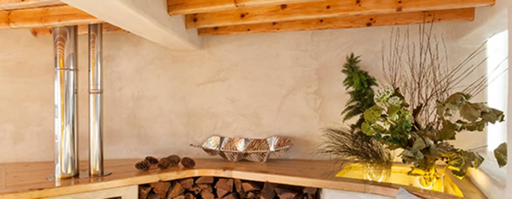 pedro quintela studio: kırsal tarz tarz Oturma Odası