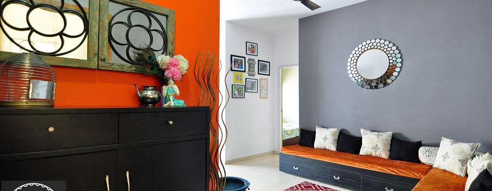Apartment Remodel: modern Living room by Aegam
