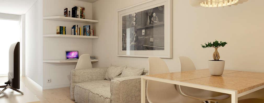 Salones de estilo minimalista de José Tiago Rosa