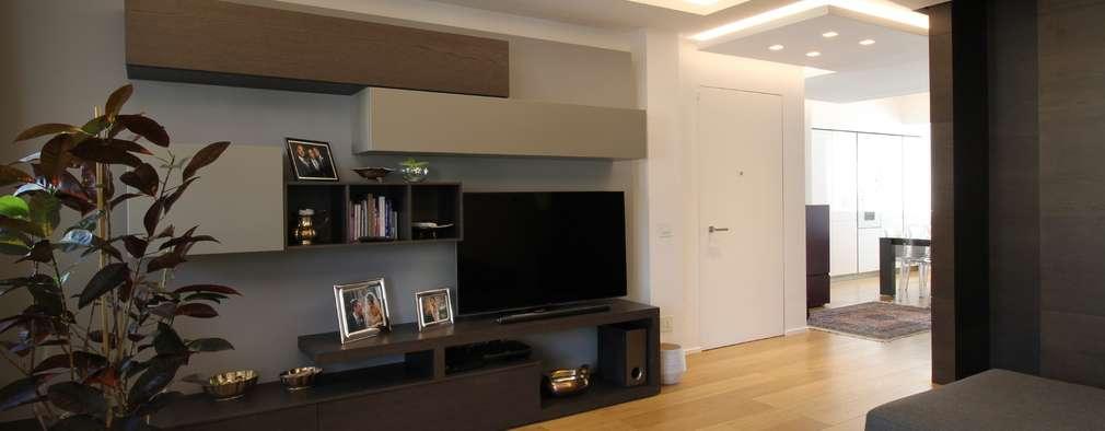 Salas / recibidores de estilo moderno por Giuseppe Rappa & Angelo M. Castiglione