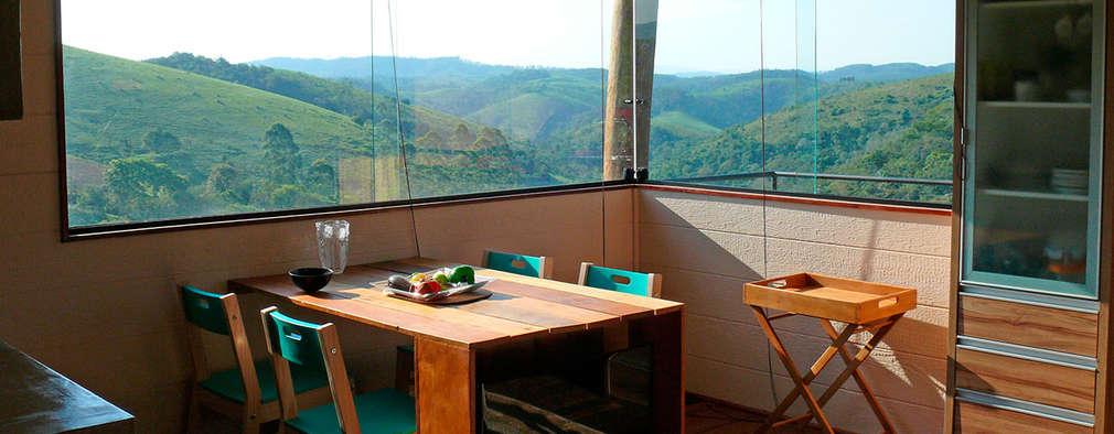 Cabana Arquitetos: rustik tarz tarz Yemek Odası