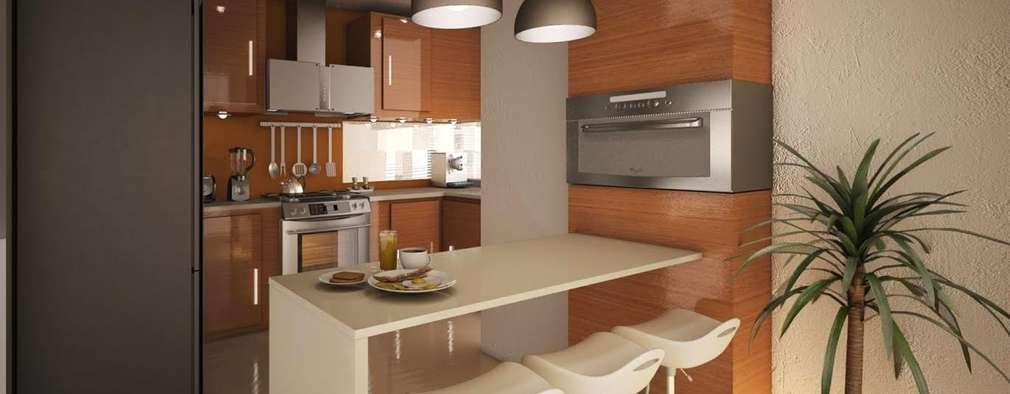 Barras para cocina 15 proyectos para que sea m s funcional for Muebles de cocina para microondas