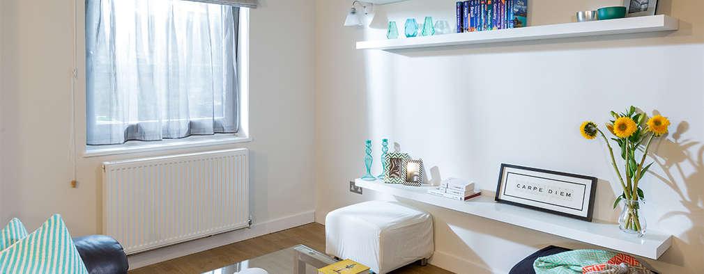 Livings de estilo moderno por Katie Malik Interiors
