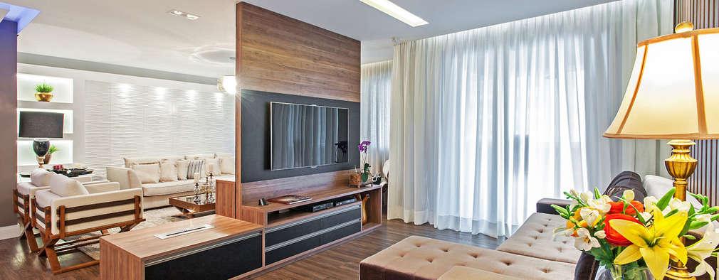 Salas de entretenimiento de estilo moderno por Patrícia Azoni Arquitetura + Arte & Design
