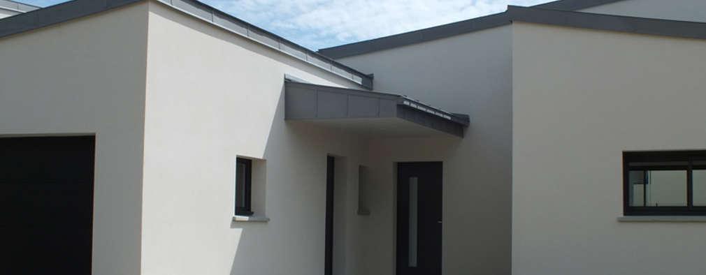 Construction d'une maison individuelle à Vern-sur-Seiche (35): Maisons de style de style Moderne par Damien DESNOS