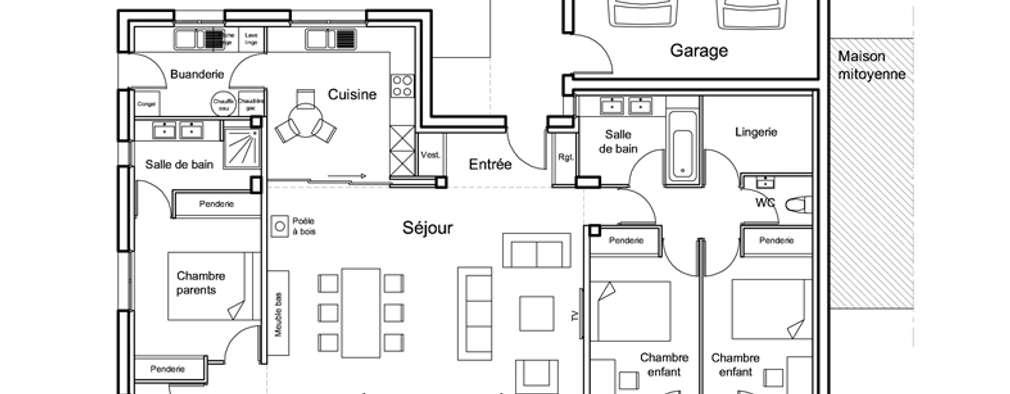 Casas de estilo moderno por Damien DESNOS