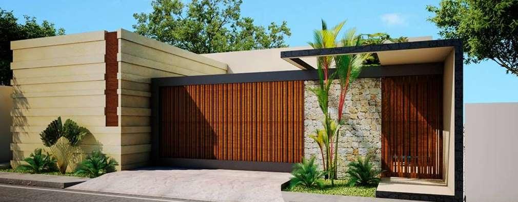 6 ideas incre bles para la puerta principal y el port n de for Puertas de ingreso principal casas