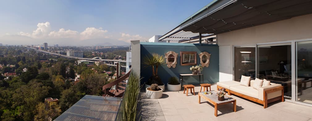 Hiên, sân thượng by Basch Arquitectos