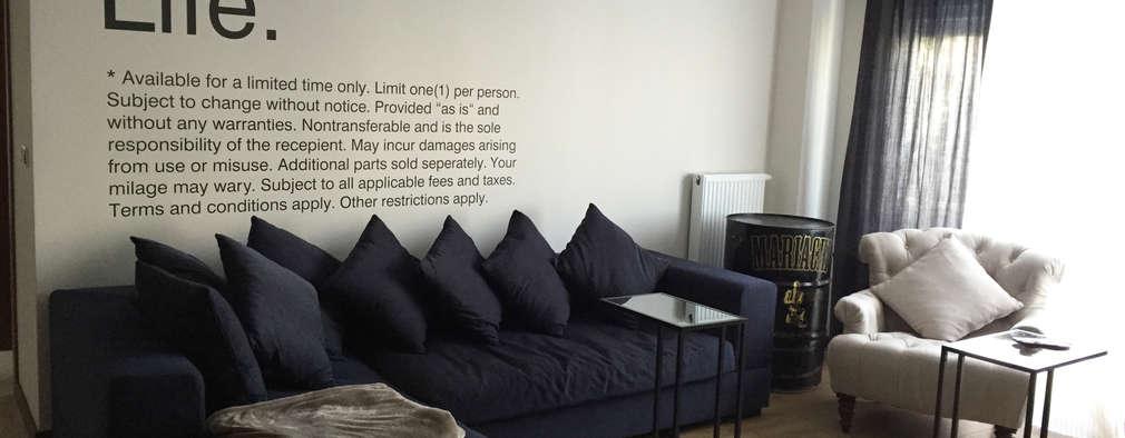 SPR TASARIM MIMARLIK IC MIMARLIK DANISMANLIK – SPR TASARIM_Project Y_living room: endüstriyel tarz tarz Oturma Odası