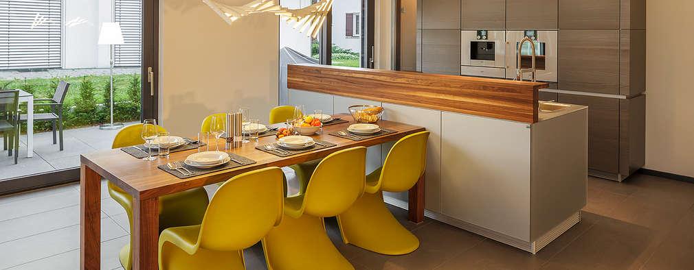 5 maisons modernes et leurs cuisines for Salle a manger bastien