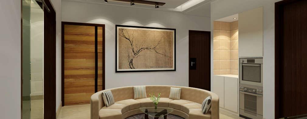 Salas / recibidores de estilo moderno por Space Interface