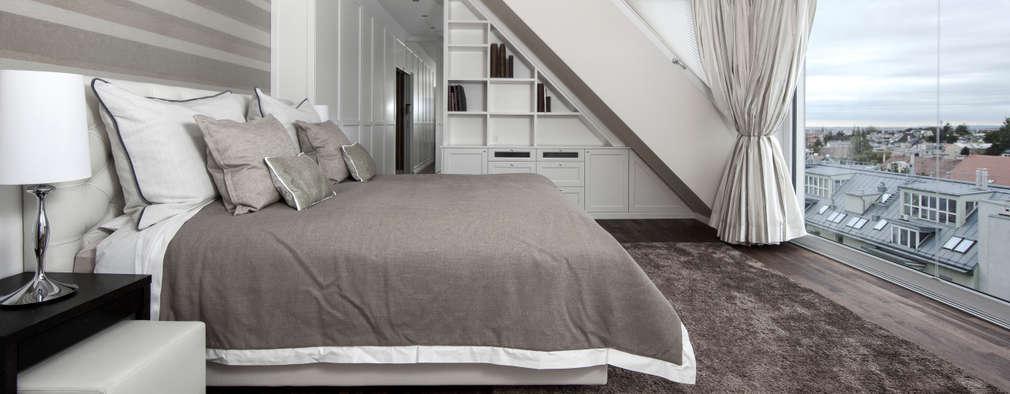 Dachgeschosswohnung: klassische Schlafzimmer von Cordier Innenarchitektur