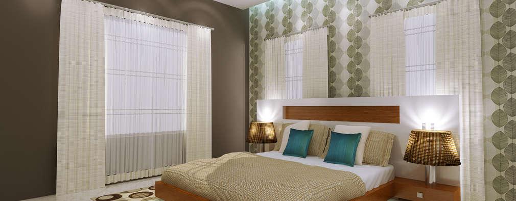 Recámaras de estilo asiático por SquareDrive Living Spaces