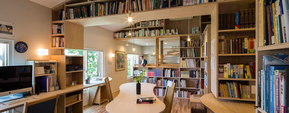 Livings de estilo moderno por スズケン一級建築士事務所/Suzuken Architectural Design Office