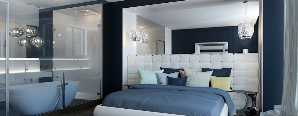 modern Bedroom by ZR-architects