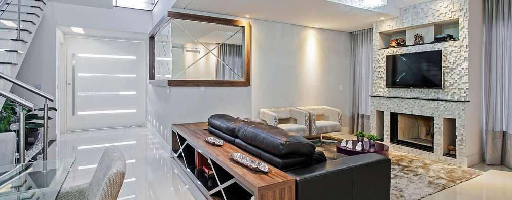 Salas multimedia de estilo moderno por Patrícia Azoni Arquitetura + Arte & Design