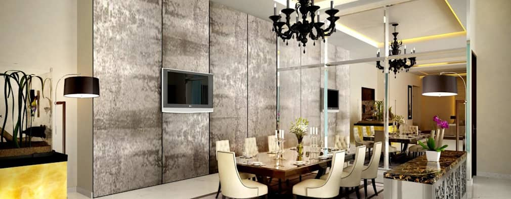 Pent house: modern Dining room by Dutta Kannan architects
