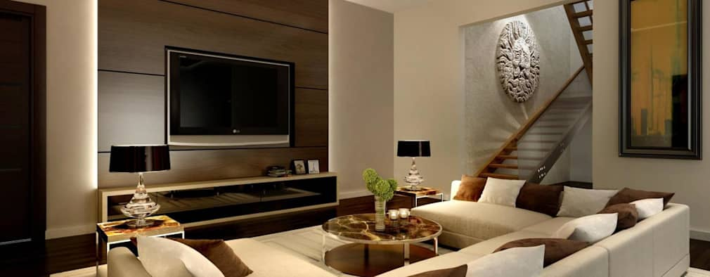 Pent house: modern Living room by Dutta Kannan architects