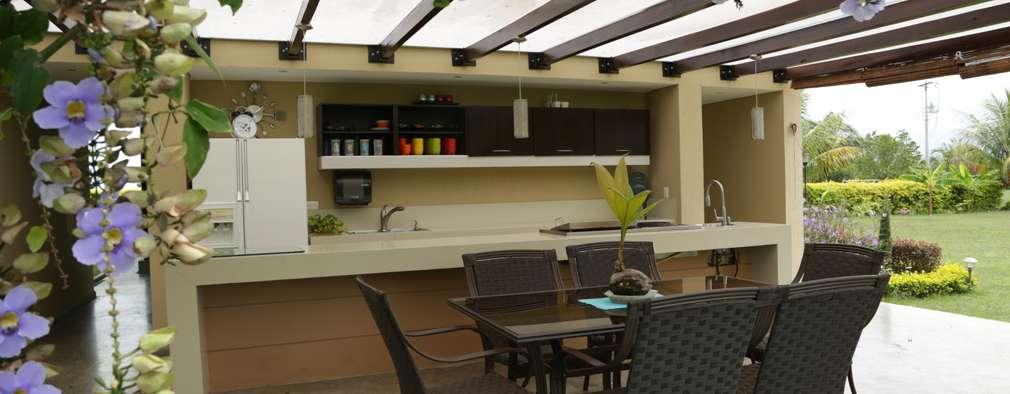 7 techos hermosos para tu terraza for Cocinas en terrazas