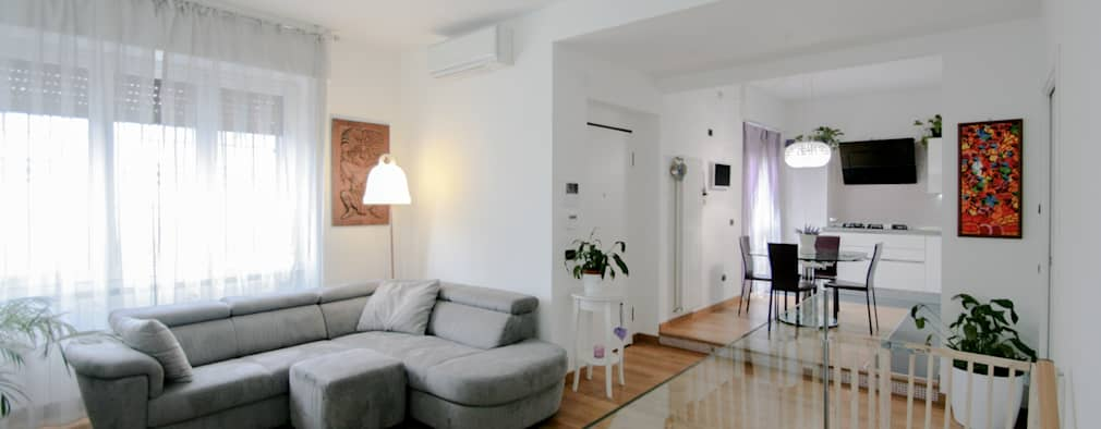 رہنے کا کمرہ  by Marco D'Andrea Architettura Interior Design