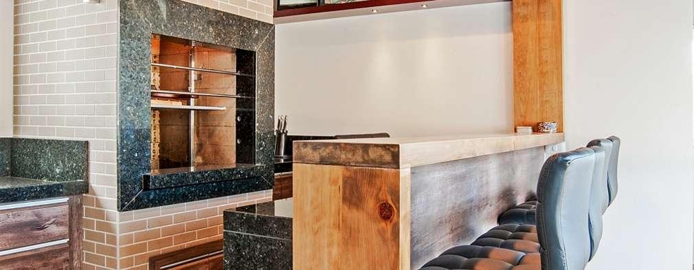 rustic Kitchen by Patrícia Azoni Arquitetura + Arte & Design