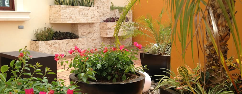 11 ideas de jardineras para casas lindas y peque as for Ideas para decorar jardineras
