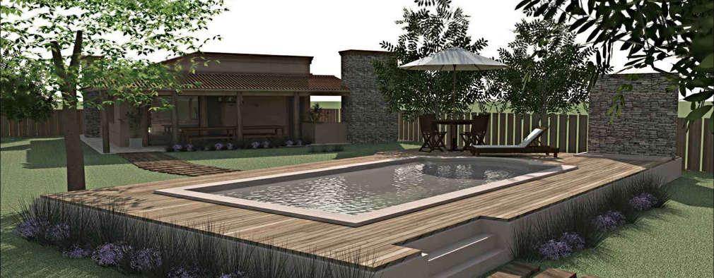 6 belos exemplos de piscinas elevadas Piscinas sobreelevadas
