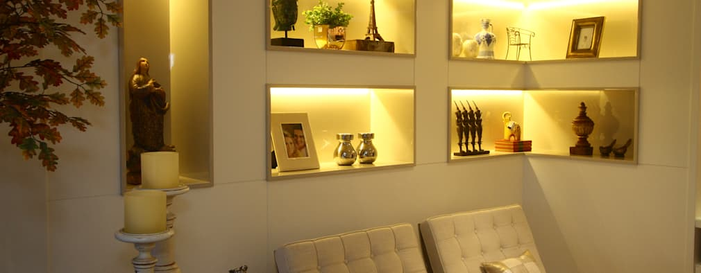 Salas / recibidores de estilo moderno por Oleari Arquitetura e Interiores