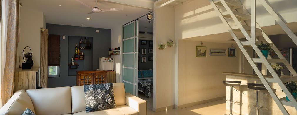 غرفة المعيشة تنفيذ Ink Architecture