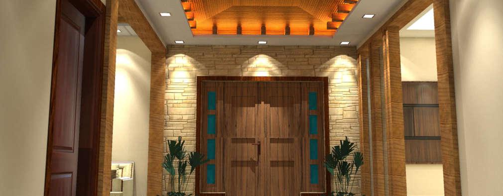 Residence:  Corridor & hallway by Al Imaraa